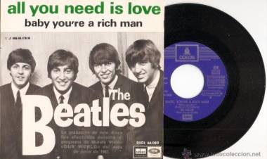 "Entre el 14 y el 25 de junio de 1967 The Beatles graban ""All you need is love"""