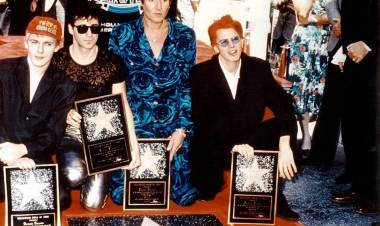 El 23 de agosto de 1993 Duran Duran recibe su estrella en el 'Paseo de la Fama'