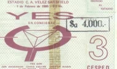Se cumplen 36 años del primer concierto de Yes en Argentina