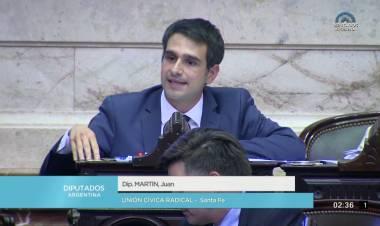 El diputado nacional Juan Martín propone un plan integral de apoyo a entidades deportivas