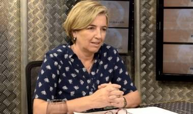 Mariela Rossi, secretaria adjunta de UDA tras la reunión de la paritaria docente provincial