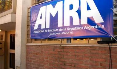Emiliano Meza y la tercera jornada de protesta de AMRA por la falta de respuesta del gobierno provincial