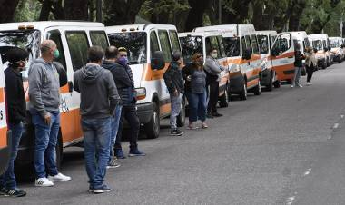 Jorge Blesa y la movilización de los transportistas escolares en todo el país