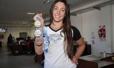 Julia Sebastián, la santafesina que se prepara para la Liga Mundial de Natación y los JJ OO de Tokio