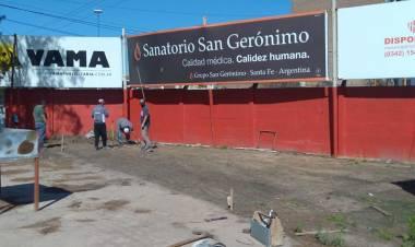 Federico Carlucci y la construcción de un quincho de las Agrupación de Peñas rojiblancas