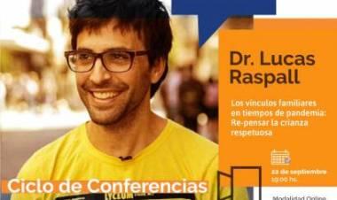 Lucas Raspall disertará sobre crianza respetuosa