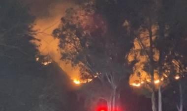 """José Cabrera. """"Hay muchas preocupación en Unquillo por la extensión de incendios en reservas naturales"""""""