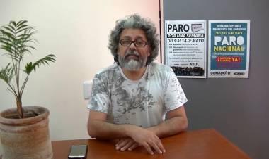 """Oscar Vallejos: """"Llegamos a esta medida de fuerza por la falta de una pauta salarial"""""""