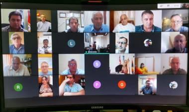 El Comité Dptal. de Emergencia mantuvo una videoconferencia con el Secretario de Salud Provincial, Jorge Prieto