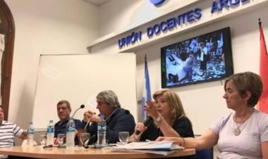 Gilda Galucci y el reclamo de UDA de apertura de la paritaria nacional