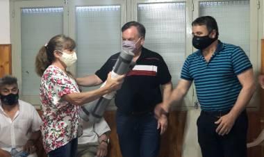 El Senador Michlig y el Diputado González entregaron aportes a instituciones de San Cristóbal