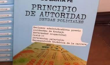 """Néstor Pujato presentó su libro """"Principio de autoridad, deudas policiales"""""""