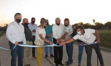 El Senador Michlig y el Intendente Boscarol inauguraron en Suardi cloacas, pavimento y luminaria led