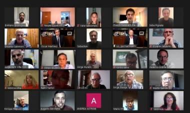 Multitudinario encuentro virtual de los dirigentes del Frente Renovador de Santa Fe