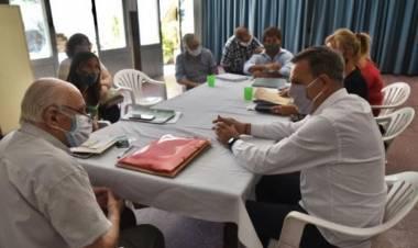 Reunión de referente del movimiento Los Sin Techo con el intendente Emilio Jatón