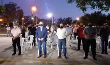 En Colonia Bossi se inauguró nueva Iluminación Led, la Plazoleta de los Estudiantes y se entregaron aportes