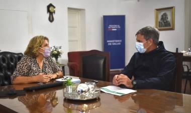Jatón se reunió con la ministra Martorano
