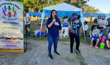 AUTISMO: Betina Florito participó de una jornada de concientización en Monte Vera