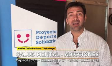 Matías Dalla Fontana nos cuenta de las actividades del Centro de Salud Deporte Solidario