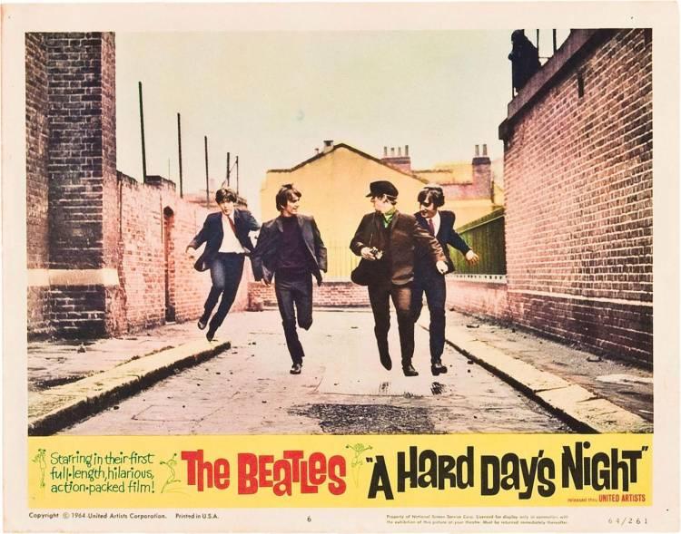 """Se estrena la primer película de los Beatles """"A hard day's night"""" en Londres"""