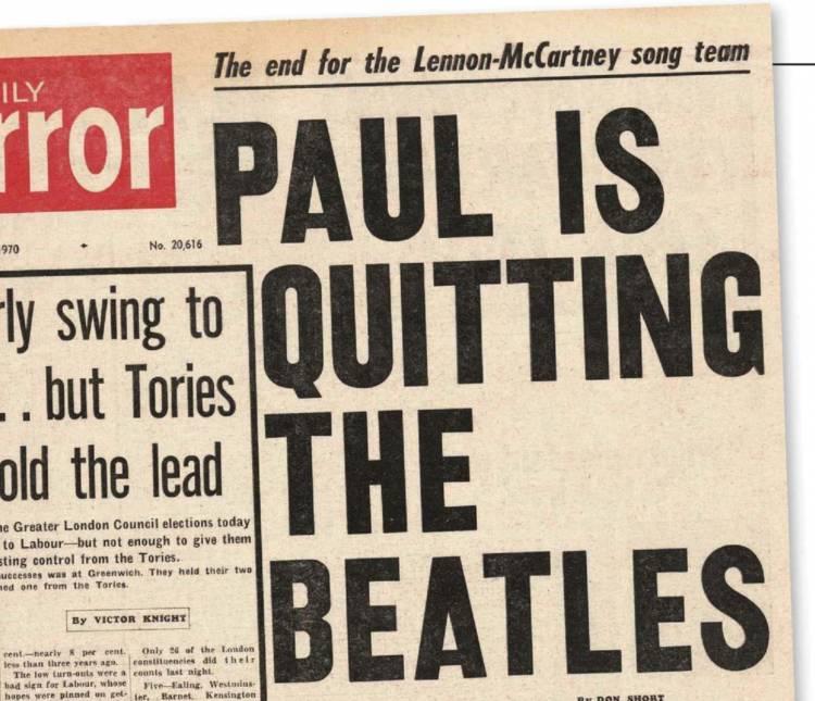 Hoy se cumplen 51 años que Paul McCartney abandona Beatles