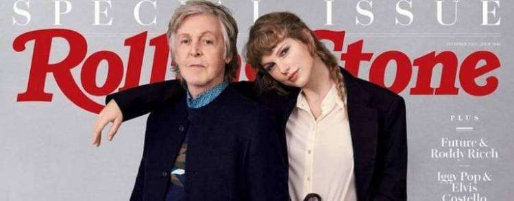 Taylor Swift y Paul McCartney, juntos en la portada de la nueva «Rolling Stone»