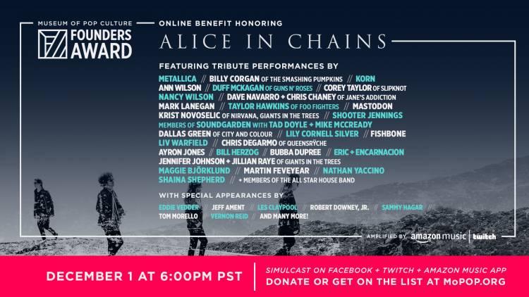 El homenaje para Alice in Chains contará con Metallica, Corey Taylor, Korn y más bandas